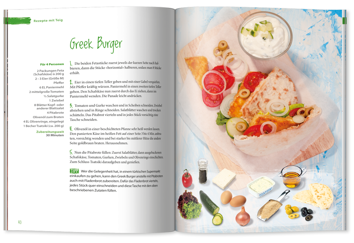 Rezept »Greek Burger«